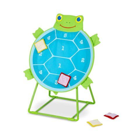 Skildpadde leg, motorik kastes spil, øje-hånd motorik træning, 1-2-3- kast, konkurrence, høretab, sprogtræning