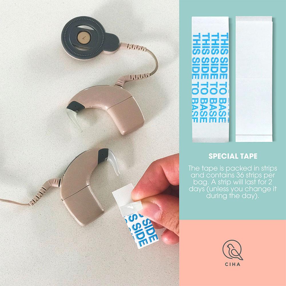 Special tape for høreapparater og cochlear implants. Tape for høreteknologi til børn