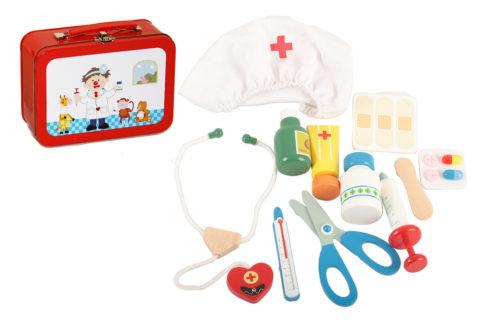 lægekufftert, lægetaske, rolleleg, sociale færdigheder, kommunikation