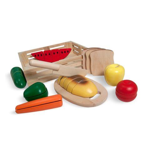 Legemad, skæremad, legemad i træ, træmad, legekøkken, rolleleg, AVT, sprogtræning, høretræning, høretab hos børn, Cochlear implants, høreapparater