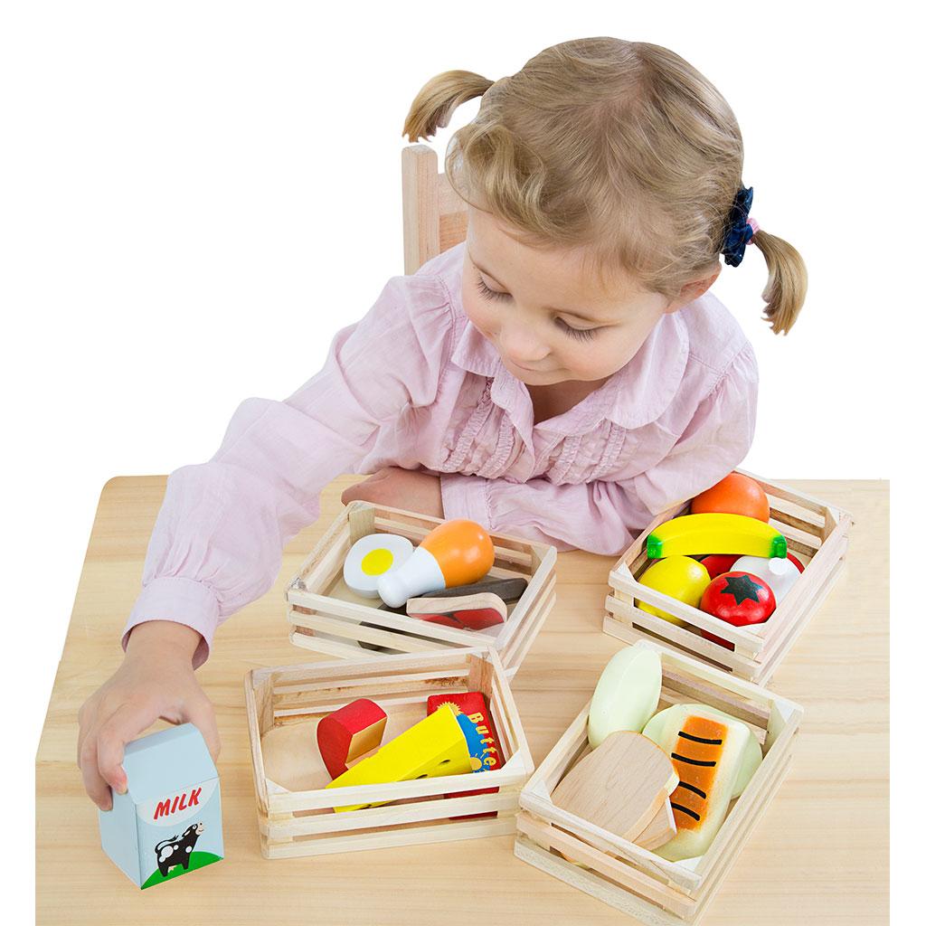 Madgrupper, mad kategorier, madvarer, legekøkken, legemad i træ, høretab, ciha, melissa & doug, cochlear implants, høreapparater, Auditory verbal therapy, avt metoden, sprogtræning