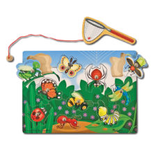 fiskespil, fiskespil med insekter, bugs, fishing, magnetisk fiskespil, melissa and doug, ciha, sprogstimulering, motiverende legetøj, høreapparater, cochlear implants