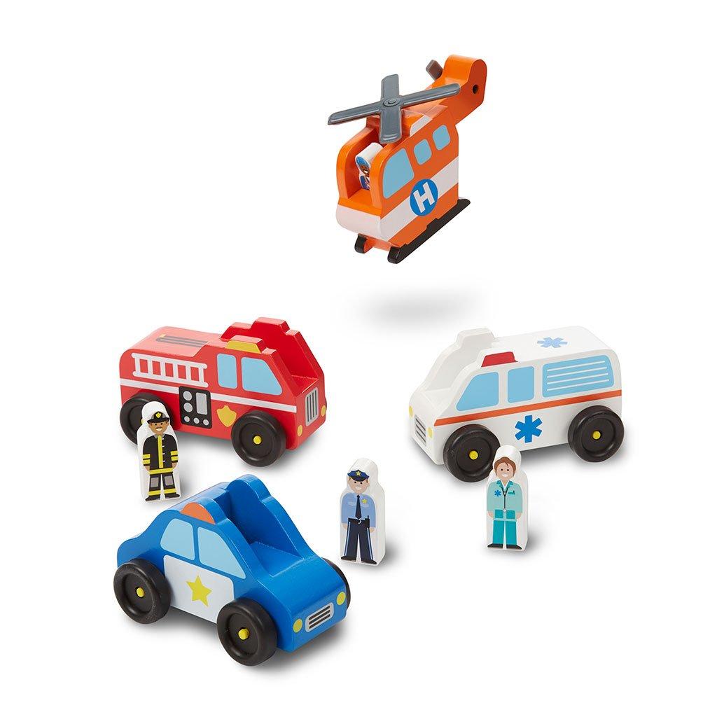 redningsbiler, katastrofe biler, helikopter, politi, ambulance, brandbil, høretab, hørenedsættelse, cochlear implants, høreapparater, sprogtræning, sprogstimulerende leg, sprogstimulering, ciha, melissa and doug