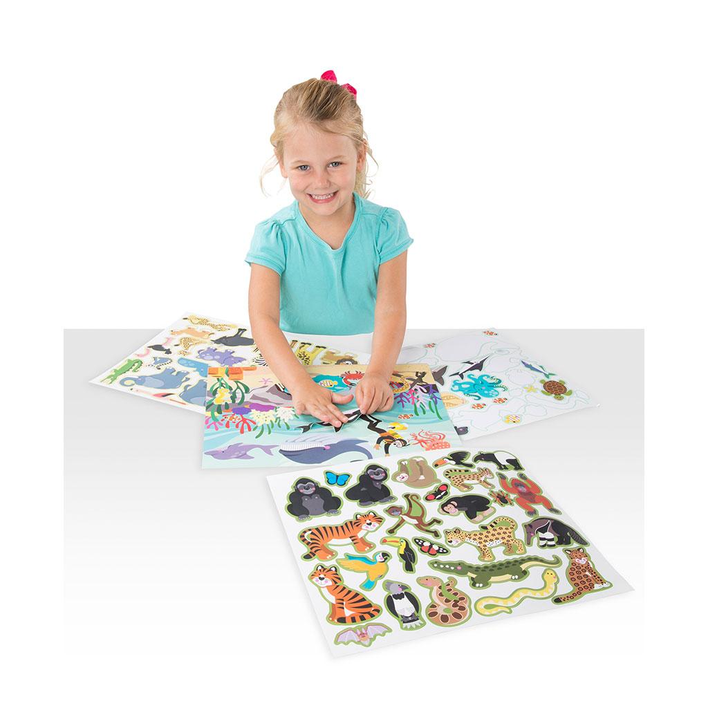 klistermærkebog, klistermærke, genbrugs klistermærker, sjov på farten, ciha, sprigstimulering, cochlearimplantkids