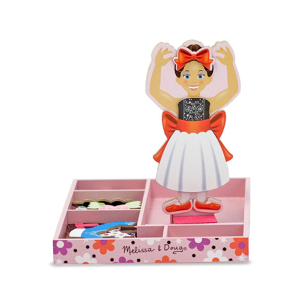 Image of   Påklædningsdukke med magneter Ballerina