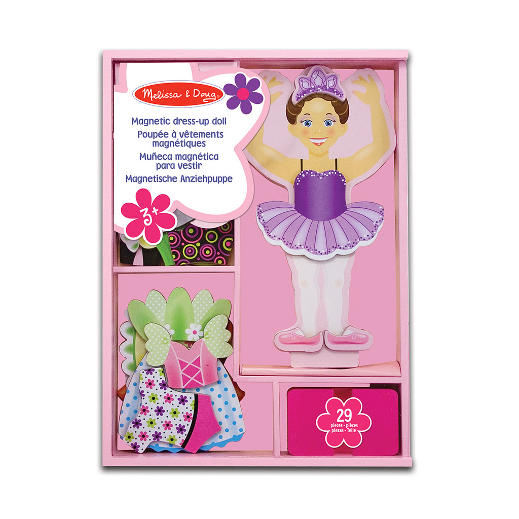 påklædningsdukke, ballerina, påklædning, magnetisk dukke, sprig, rolleleg, beklædning, ciha