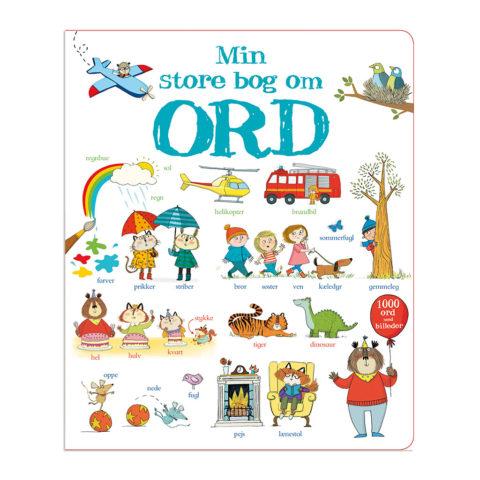 Min store bog om ord, børne ordbog, sprog, modsætninger, tillægsord, udsagnsord, ordforråd, kommunikation, sprog, sprogudvikling, sprog og leg, sprog og læring