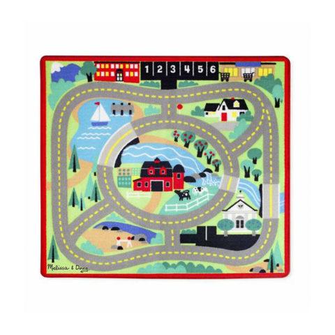 tæppe, rund i byen tæppe, by tæppe, tæppe med biler, leg, rolleleg, kommunikation, sprog
