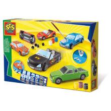biler, lav selv biler, støb og mal biler, gips, maling, kreativ fordybelse