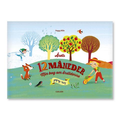 årets 12 måneder, måneder, årstider, boglæsning, pop-up bog