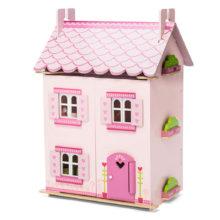 dukkehus, drømmehus, mit første dukkehus, træ dukkehus, rolleleg, leg med dukker, sprogtrænnig, sprog, ciha, høretab