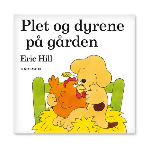 hundehvalpen plet, gården, plet, plet og dyrene på gården, flap bog, flapper, sprogtræning, sprog, bog, boglæsning, dialogisk løsning, AVT træning