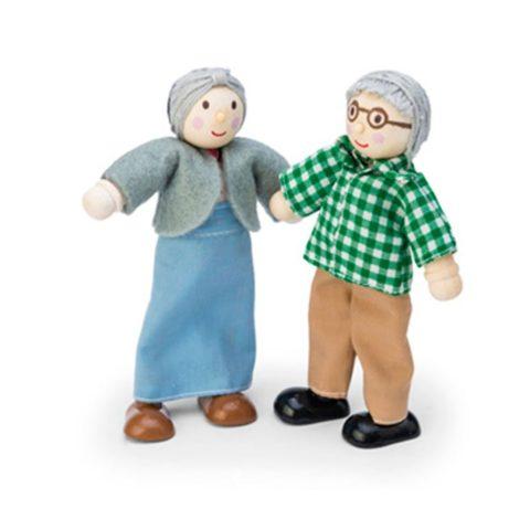 bedsteforældre, dukkehus, dukker, rolleleg, familie, sprogstimulering