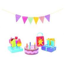 daisylane, fødselsdags sæt, dukkehus, rolleleg, sprogstimulering, sprog og leg, læring