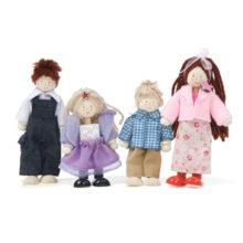 dukkefamilie, dukkehus, mor, far, søskende, lillesøster, storebror, familie, dukkeleg, rolleleg, ciha, sprogstimulering