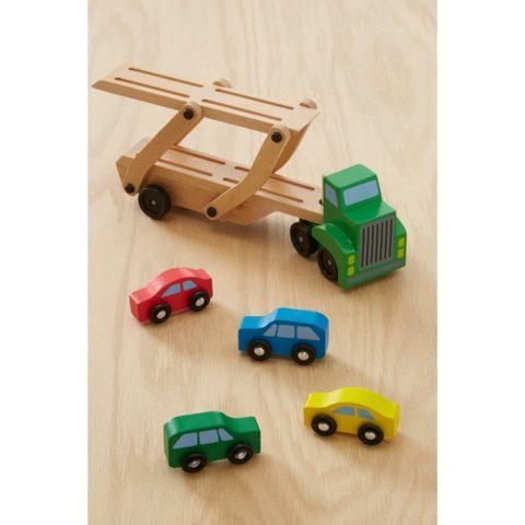 bil transporter, lastbil, bil lastbil, træ biler, ordforråd, bil, motorik, sprog