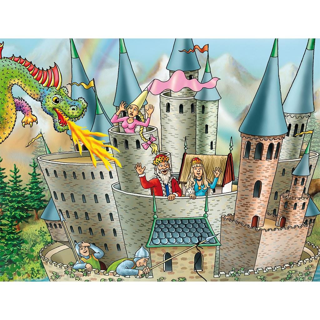 den lille ridderby, interaktivt tæppe, guldtæppe, legetæppe, tæppe med ipad, historiefortælling, rim og remser, digital gulvtæppe, tip tap tudse, motorik øvelser, sprogudvikling