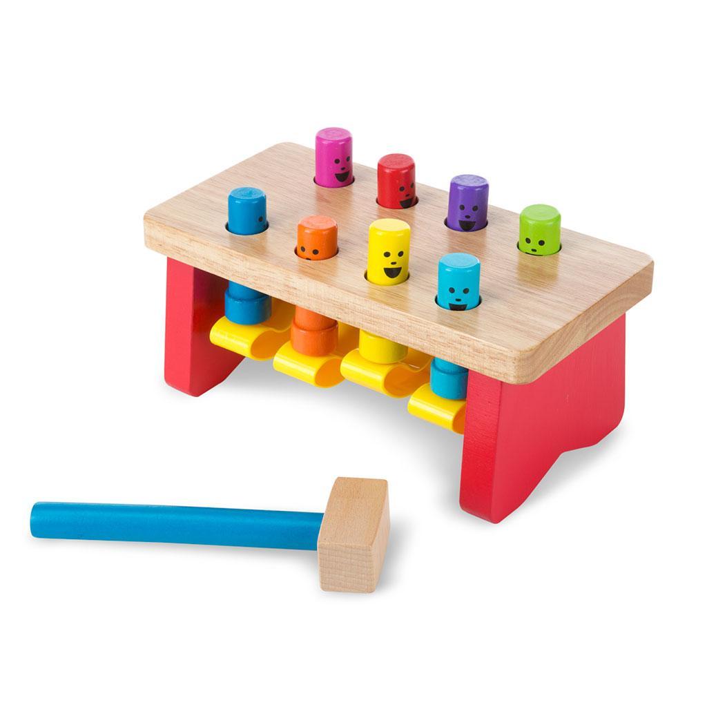 hammerbræt, hammerbænk, motorik legetøj, grov motorik, sprog, tællefærdigheder, farve genkendelse, hånd-øje koordinering, kognitiv udvikling, ciha