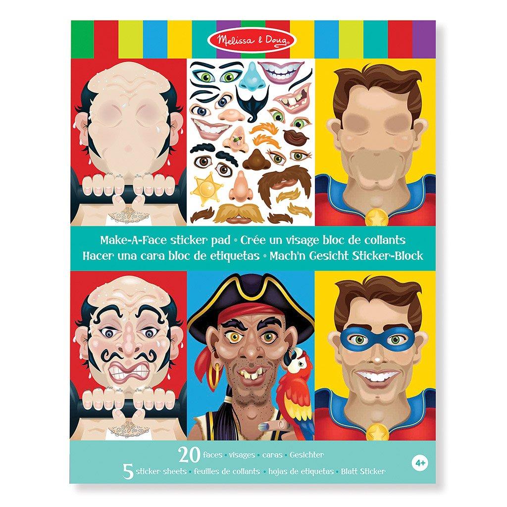 Lav En Karakter Klistermrkebog Med 120 Klistermrker Og 20 Sider Sticker Crazy Karaterer Ansigter Pad