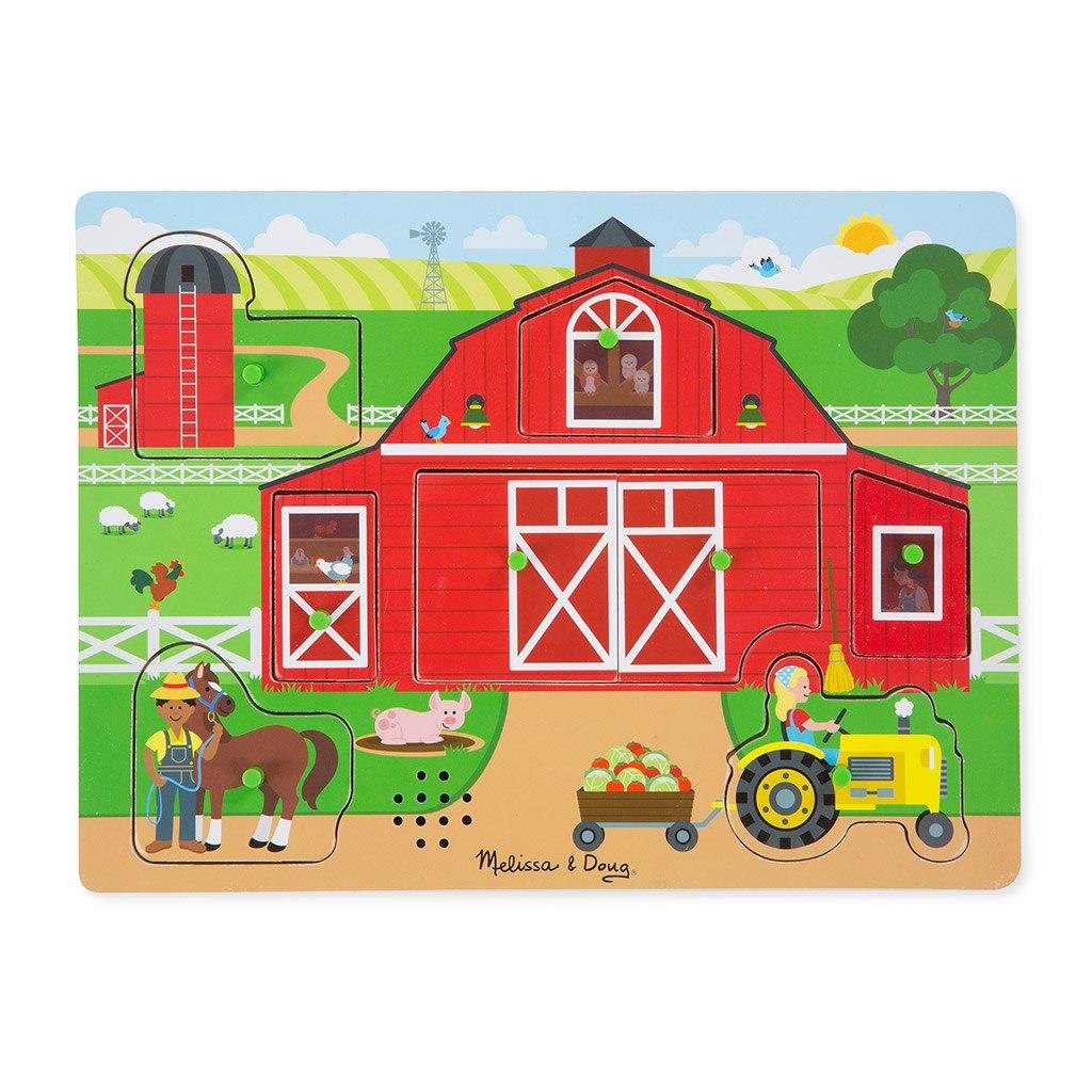 bondegården, bondegård, farm, puslespil, lyd puslespil, lytte, leg, sprogudvikling, sprogtræning, sprog aktiviteter