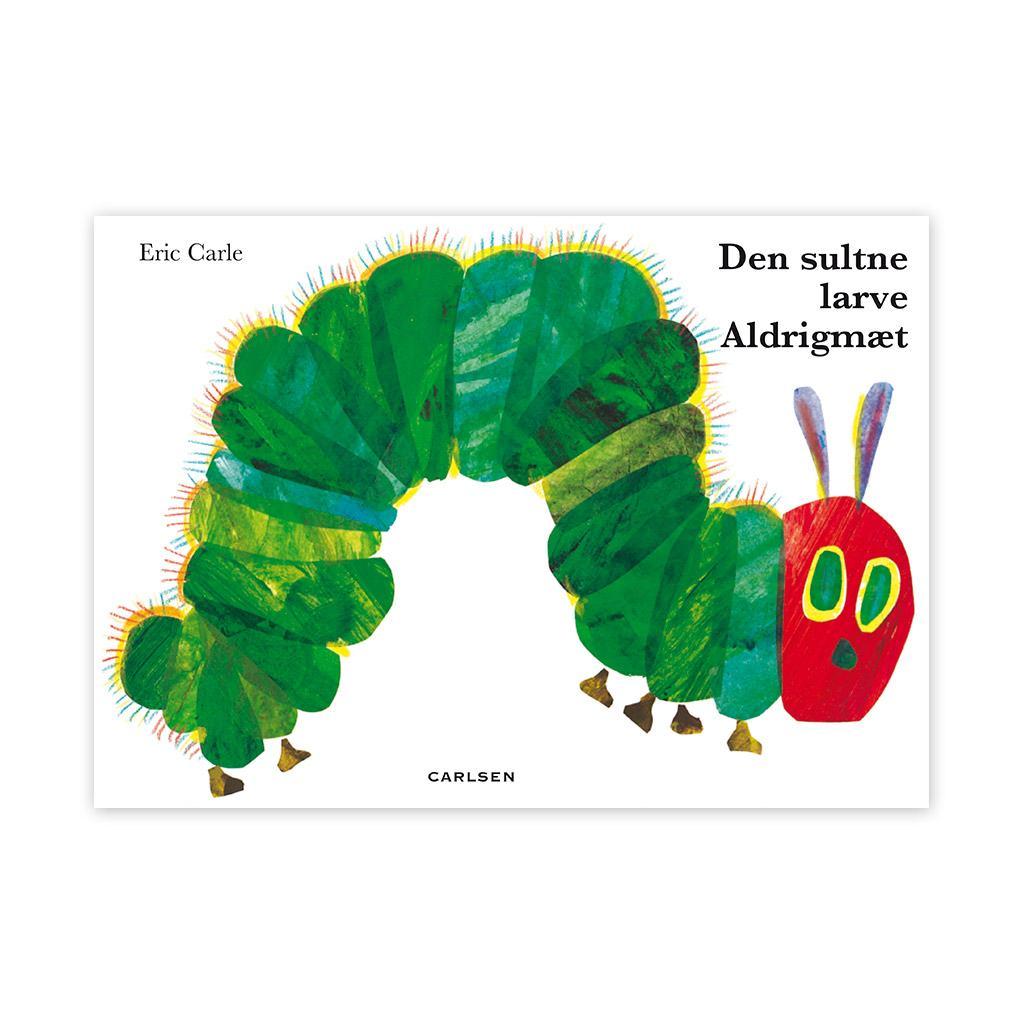 den sultne larve aldrigmæt, aldrigmæt, larve, sommerfugl, klassiske børnebog, børnebøger, billedbog, erik carle, ciha, sprog, dialogisk læsning, læse