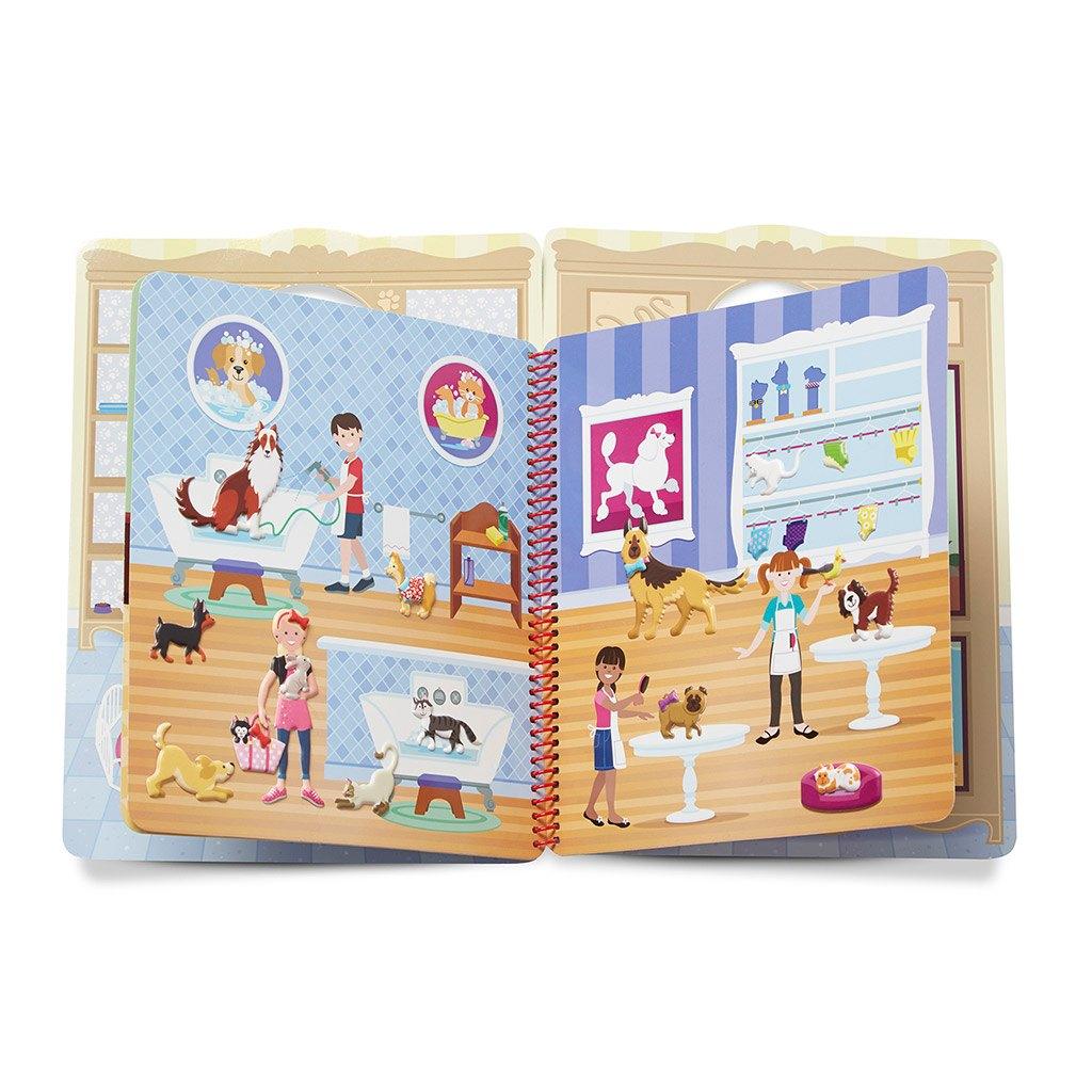 aktivitetsbog, aktivitet, puffy, klistermærke, genanvendelige mærker, rejse, ferie, flyve aktivitet, bil leg, historie, motorik, fantasi, kæledyr, dyr