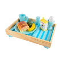 morgenmadsbakke, morgenmad, mad, trælegetøj, trælad, træ, legetøj, legekøkken, rolleleg, ciha, kommunikation