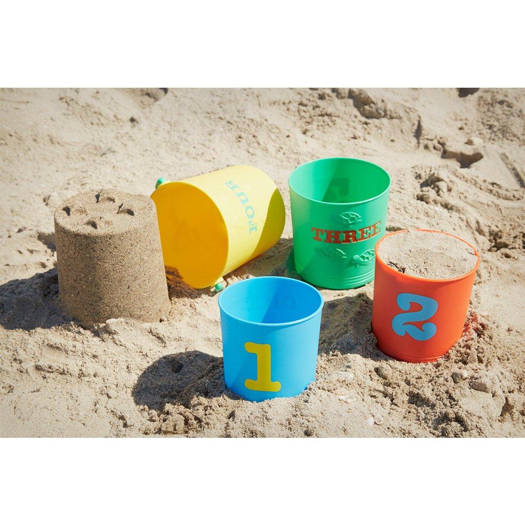 sandkasse sæt, strand, sand, sortering, nesting, stable, tælle, sandslot, kategorisering, kognition,