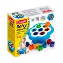 daisy maxi, daisy mosaik, puttekasse, daisy, quercetti, morotik, kognition, hånd-øje koordinering, tælle, farve genkendelse, former, linglydstjek, droptest, ling sounds, linglyd