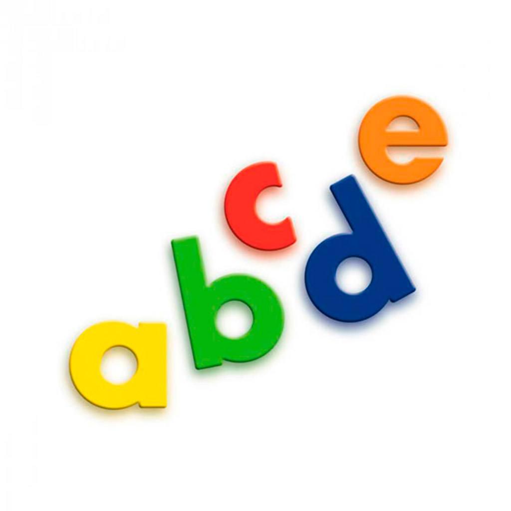 små bogstaver, minuskler, querceti, magnet bogstaver, magnetleg, skrive magneter, stave magneter, literacy, skoleleg, ciha, cihawebshop