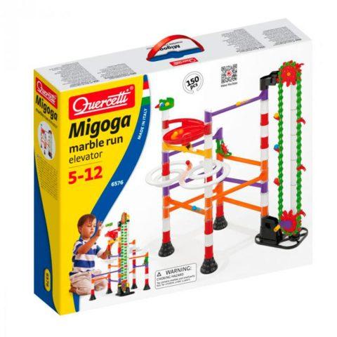 migoga elevator, migoga, elevator, marble run, kuglebane, motorik, konstruktion, bygge, motorik, drenge legetøj, julegave, quercetti