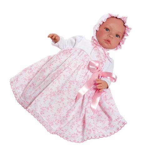 leonora rosa, leonora dåbskjole, Leonora, asi-dukke, asidukke, dukketilbehør, dukke, dukker, baby dukke, baby, rolleleg, leg, asi, así. dukkeleg, dukkekrog, julegave