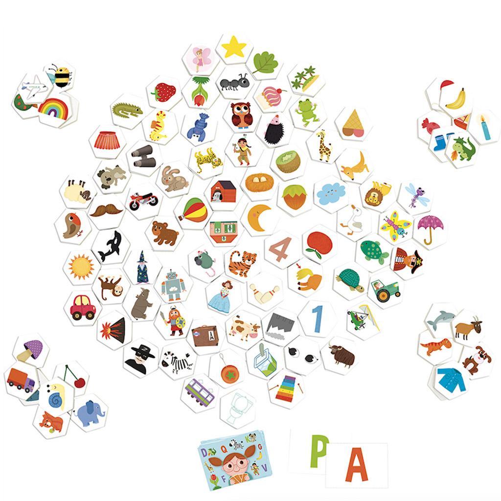abc observations spil, outekache, vilac spil, lærerige spil, spil der lærer barnet ord og bogstaver, skolestart, skoleparat