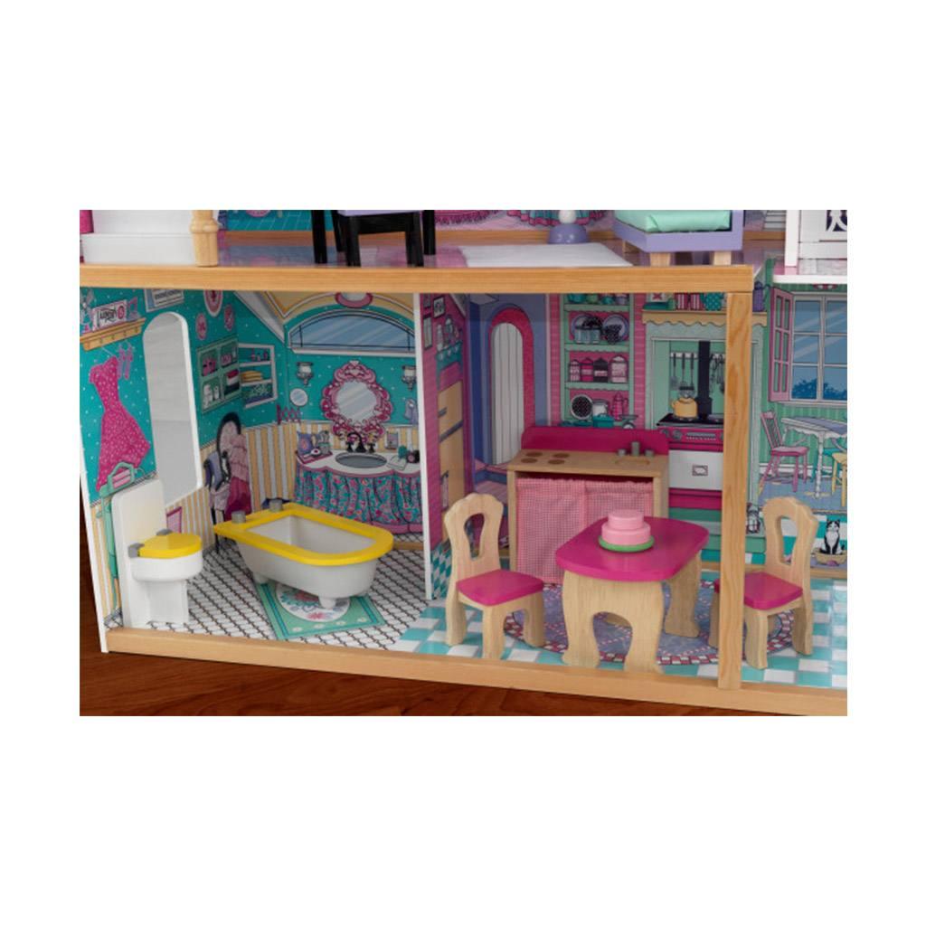 annabelle dukkehus med elevator og tre etager. Kidkraft dukkehus i træ forhandles hos CIHA