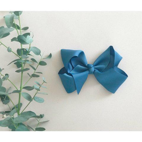 Antique blue sløjfe fra little olga sløjfe 10 cm. Hårsløjfe og hårbånd til piger