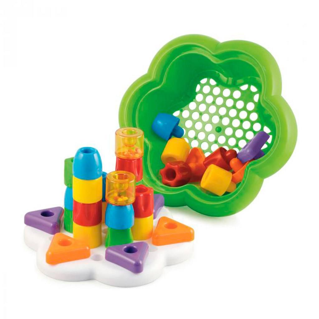 daisy box mosaik byggesæt med opbevaring. Legetøj fra Quercetti forhandles på CIHA, leg og læring der udvikler dit barns sprog