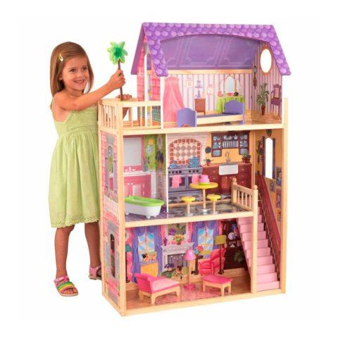 kayla 3 etagers dukke hus fra Kidkraft. Sjov, fantasifuld og sprogudviklende rolleleg for piger.