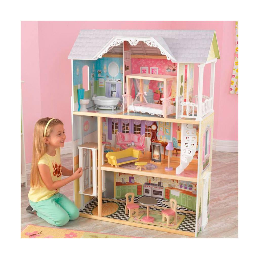 kaylee dukkehus med elevator og tre etager. Kidkraft dukkehus i træ