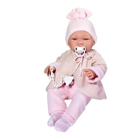 maria babydukke fra Así. 43 cm og næsten rigtig babystørrelse med smukke detaljer, der får dukken til at se virkelig ud.