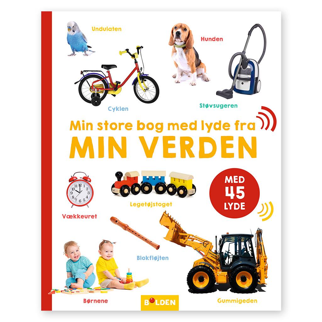 Min store bog med lyde fra min verden. En sjov måde at lære det llille barn om hverdagens lyde - styrker sproget og ordforråd. Køb hos ciha.dk