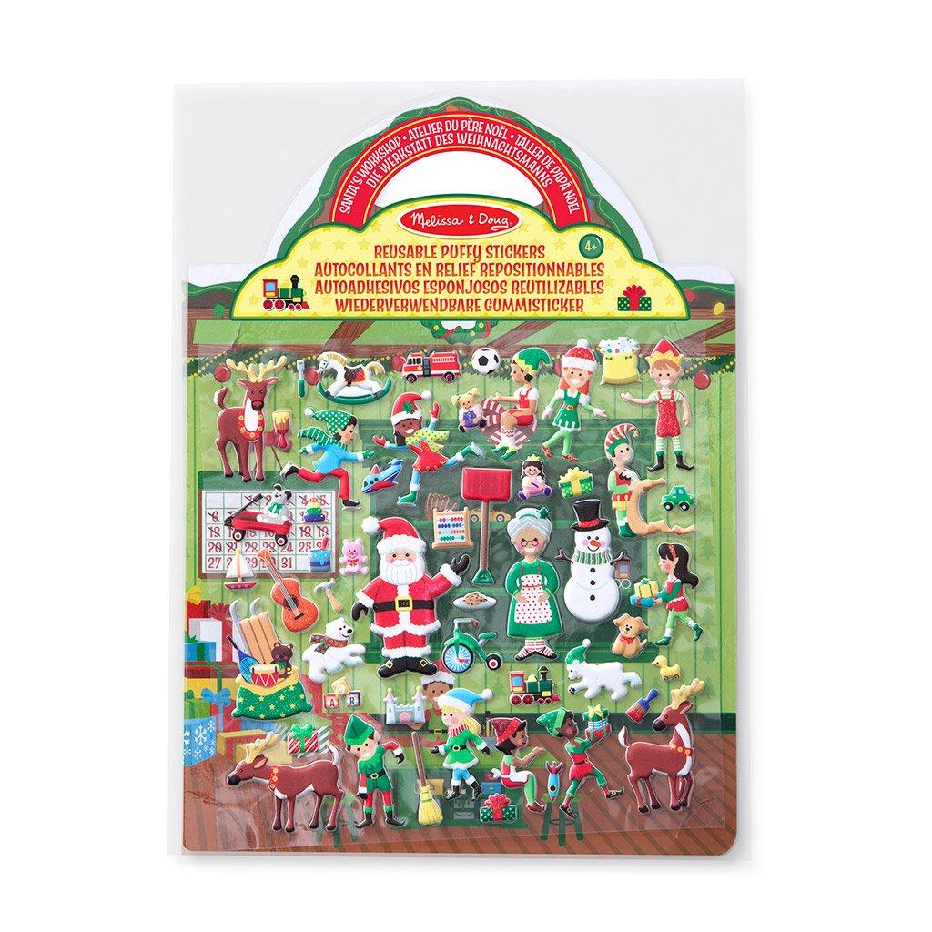 julemandens værsted i en sjov klistermærke bog med genbrugelige klistermærker fra melissa and doug. Fri fragt over 500 kr. hos ciha.dk