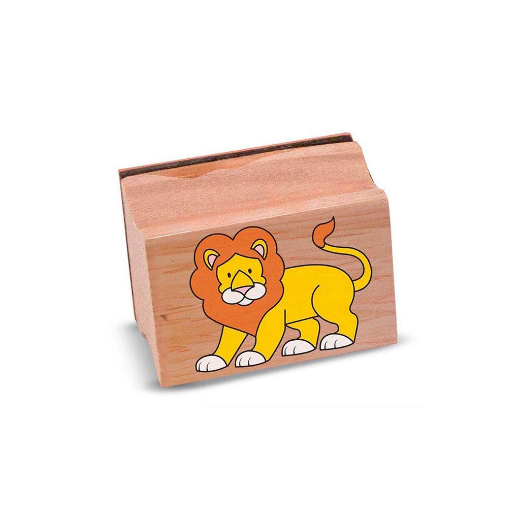 stempel sæt med safari dyr i æske. Sjov og kreativ leg. Fri fragt over 500 kr hos ciha.dk