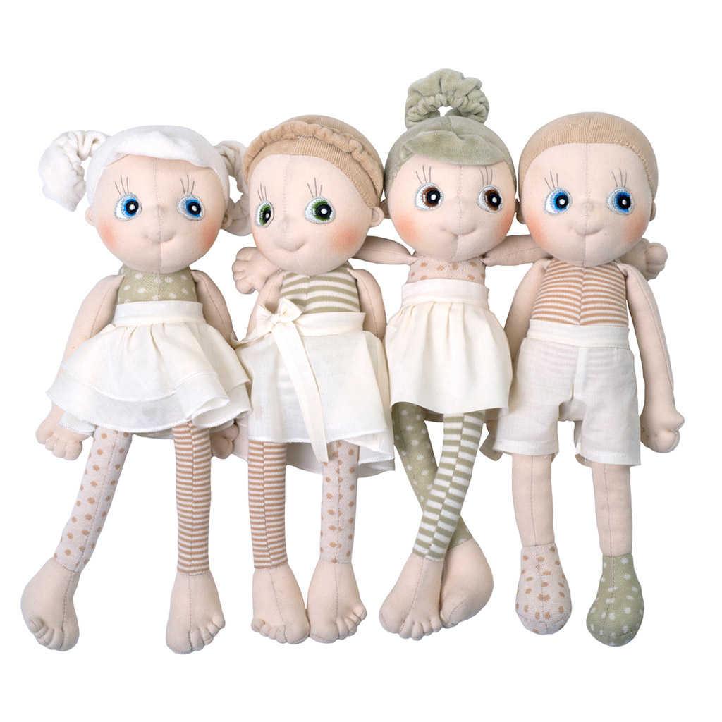aspen ecobuds dukke er en økologisk dukke. Find flere dukker i serien på ciha.dk