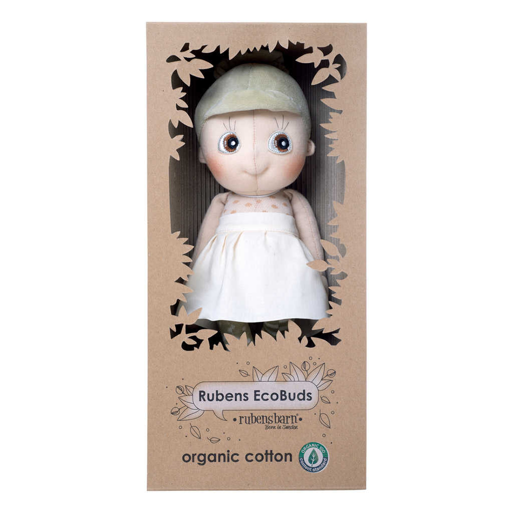 Iris ecobuds dukke er en økologisk dukke. Find flere dukker i serien på ciha.dk