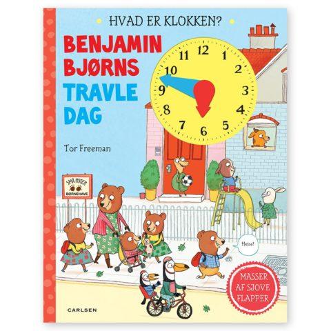 Benjamin Bjørns travle dag - hvad er klokken? EN sjov bog med udskive og flapper, som lærer barnet om klokken og begreber om tid. www.ciha.dk