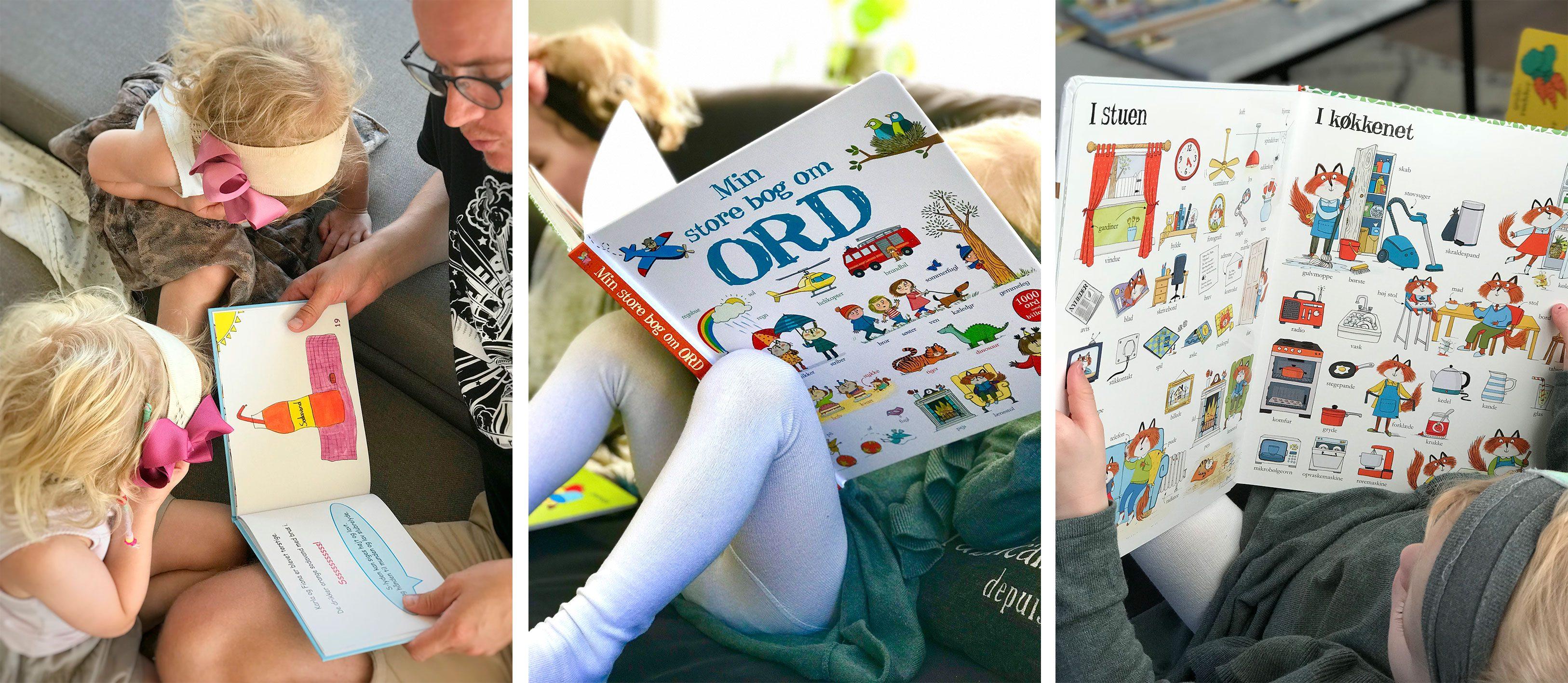 at læse bøger med dit barn er den nemmeste indgang til sproget