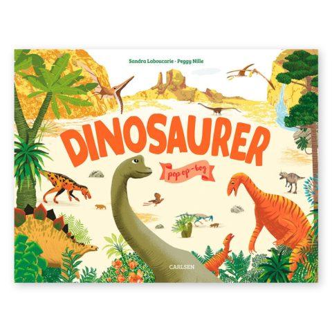 dinosaurer i en smuk pop op bog. En god gave ide til dinosaur glade børn. Www.ciha.dk