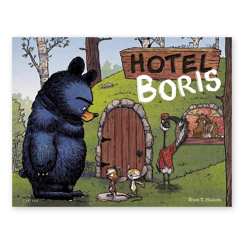 Hotel Boris, en sjov børnebog om at have temperament og tålmodighed. Køb hos www.ciha.dk
