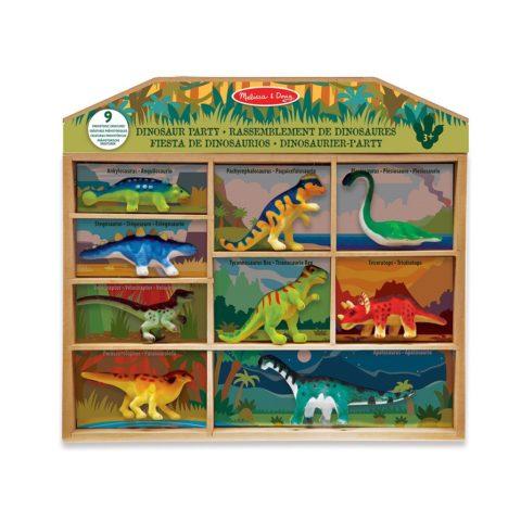 Dinosaurer fest for dine dinoelskende venner. Æske med 9 realistiske og bløde dinosaurer. Køb hos www.ciha.dk