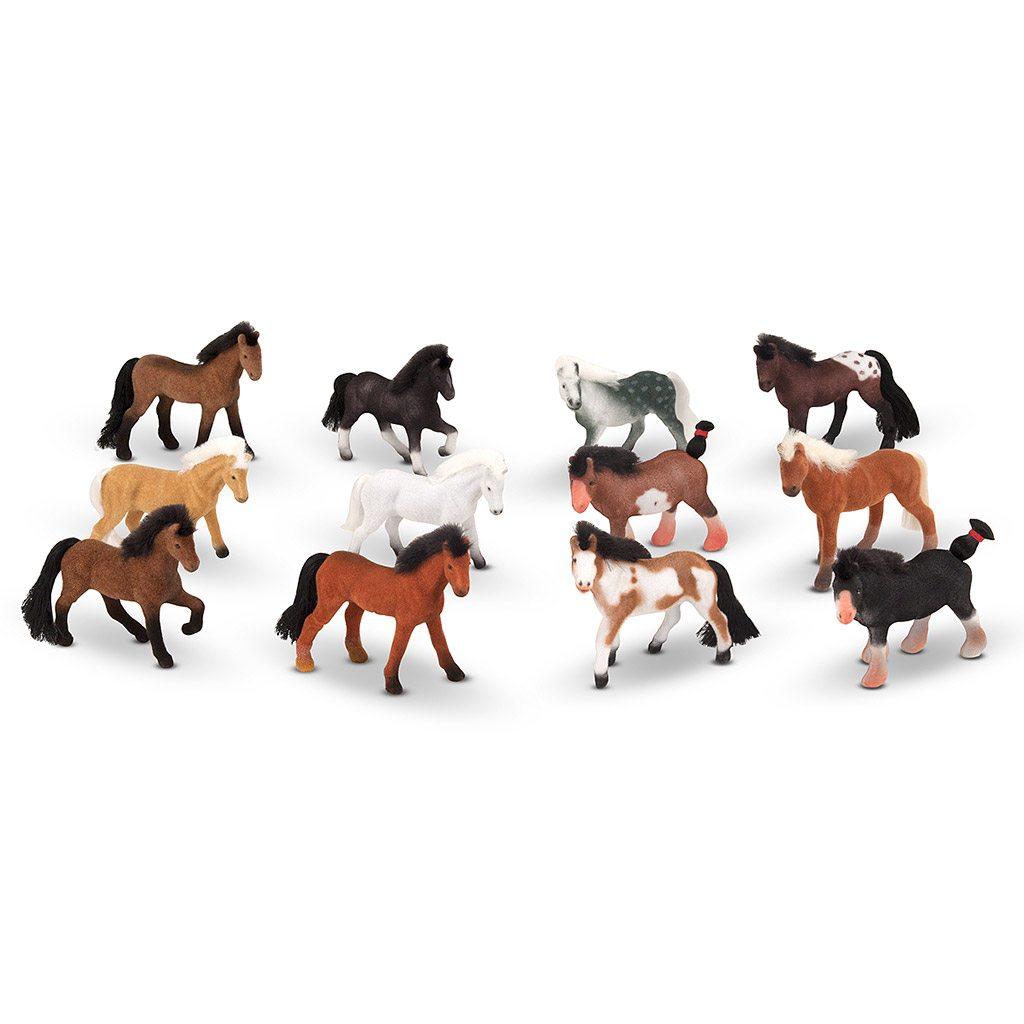 Miniature heste venner fra Melissa and Doug. Rolleleg mellem flere børn. Køb hos www.ciha.dk